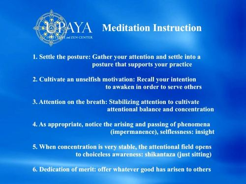 UPAYA MEDITATION INSTRUCTIONS ps